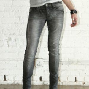 Lip Service Gray Vintage Wash Junkie Jeans Goth
